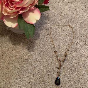 Dark Burgundy Stone Lia Sophia Necklace